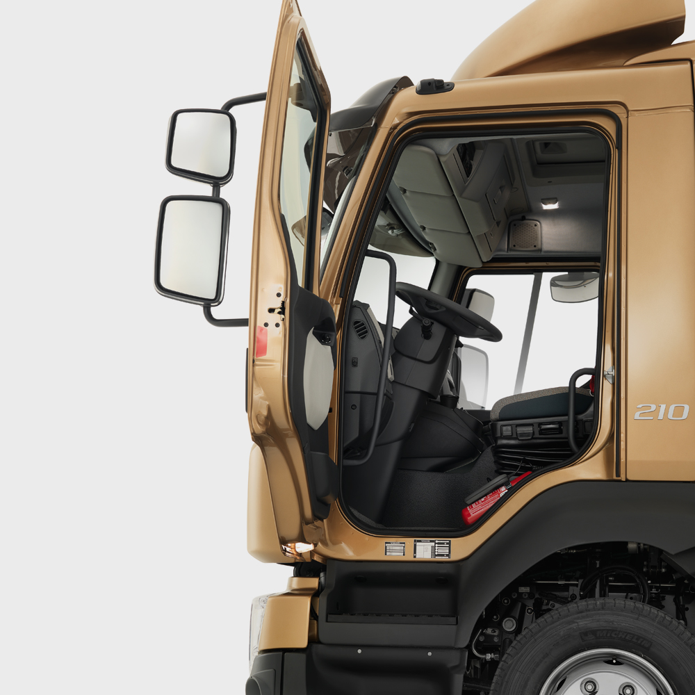 Volvo FL features safety cab studio